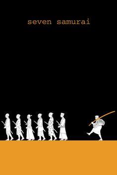Seven Samurai (1954) alternative poster art