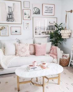 Cozy Neutral and Blush Living Room - Money Can Buy Lipstick Money Can Buy Lipstick Living Room, Living Room, Neutral and Blush Living Room, Cozy Living Room, Urban Outfitters Home Blush Living Room, Cozy Living Rooms, New Living Room, My New Room, Living Room Furniture, Home Furniture, Rustic Furniture, Antique Furniture, Modular Furniture