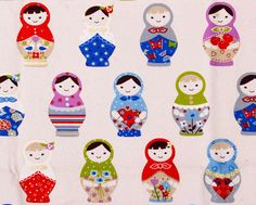 1yd / heave weight / matryoshka / Russian doll / natural by cosy9