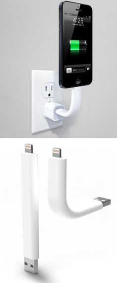 This flexible, yet strong, phone charger could come in handy (especially in a car to display a map)      http://goo.gl/f0SohK
