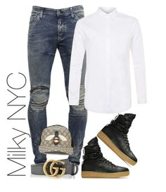 """""""Untitled #969"""" by milkynyc on Polyvore featuring G-Star, NIKE, Topman, Gucci, men's fashion and menswear"""