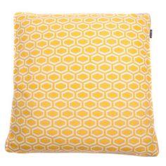 In the Mood collection kussenhoes (50x50cm) geel met wit kussen