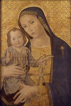 Virgin and Child / Virgen con el Niño // 1495 // Antonio Aquili, 'Antoniazzo Romano' // From: Convento de San Francisco de Valencia // Museo Bellas Artes Valencia