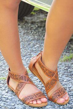 Incredible Journey Sandals: Cognac