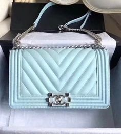 3f8362c6184f Chanel 2018 Small BOY CHANEL Handbag Turquoise