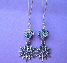 WINTER IS COMING earrings on French wires. $9.00.  Ohhhhhh, pretty!!!!