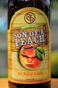 Son Of A Peach - RJ Rockers Brewing Company (Fruit / Vegetable Beer) Poured a hazy orange with a finger of white head and some sparse lacing. Smells of peach obviously. Tastes more artificial/rotten peach than fresh peach. Feels good in the mouth but the taste overpowers anything good. Overall not a fan of this wheat ale.