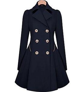 Skymoto®Women's Fashion Slim OL Trench Faux Long Design Trench Coat