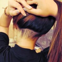 nape undercut hairstyle design v-pattern