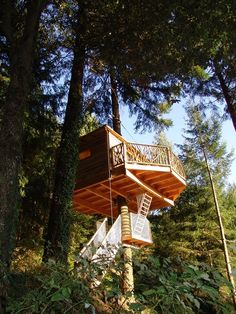 Tree cabins near Girona in Spain