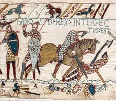 The death of Harold depicted in the Bayeux Tapestry