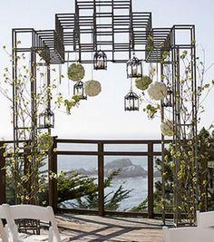 beach, chairs, decor, miscellaneous, lanterns, venue, reception, ceremony, chuppah, wedding
