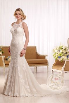 #4 D2174 by Essense of Australia  Recommended by: Bridal Vision (Dieppe, NB): The D2174 dress by Essence of Australia was an easy choice for us as it's very unique, has a very pretty high neckline and is a great fit for all brides !  Click on the link to see this dress and 14,000 more on our #WeddingDressFinder !