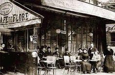 Un petit repas au Café de Flore à Paris en 1900