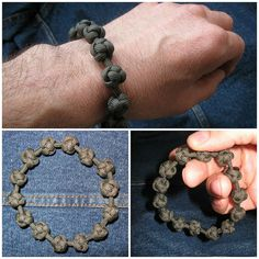 Paracord prayer bead bracelet.