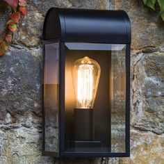 Do you prefer the vintage light bulbs and vintage lamps over the more energy efficient and bright LED lights? Here's a debate why vintage lamps are alright. Astro Lighting, Direct Lighting, Shop Lighting, Exterior Wall Light, Exterior Lighting, Black Exterior, Outdoor Wall Lamps, Outdoor Walls, Porch Lighting