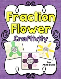 FREEBIE....Get your students ready to APPLY their new knowledge of Fractions by creating A Fraction Flower Word Problem Craftivity!  Fun, Interactive, and Looks GREAT as a bulletin board display! Grades 2-4