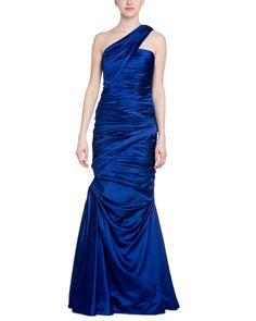 Spotted this ML Monique Lhuillier Royal Blue Satin One-Shoulder Gown on Rue La La. Shop (quickly!).