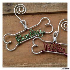 Green Personalized Dog Bone Ornament