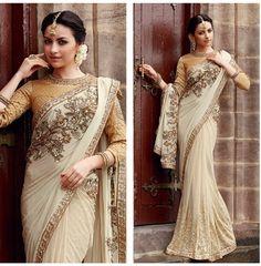 Elegant look #white #sarree