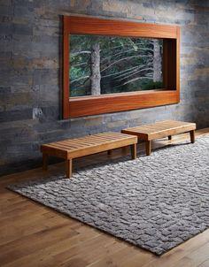 The beautiful mix of warm timbers, stone, cabin style and Scandinavia...