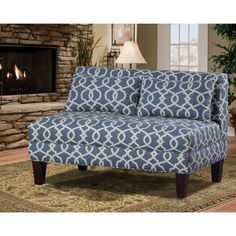 latitude run boyd armless loveseat upholstery emory pewter