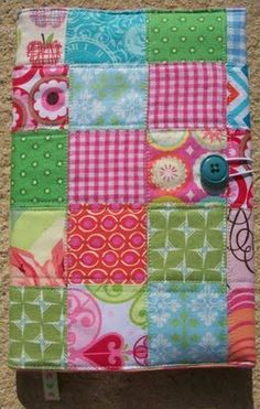 Quilted book or bible cover- the button closure is perfect!