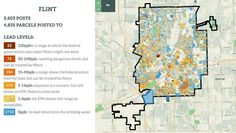 The map represents over 5,000 residential lead samples taken throughout Genesee county. The samples are self reported by Flint residents that pick up testing kits and drop the results off. The map was developed by the data made available through the State of Michigan and the Department of Environmental Quality. Water Issues, State Of Michigan, Brainstorm, Experiment, Platforms, Social Media, Drop, Link, Social Networks