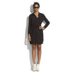 $99.99 on sale! Artdot Novelist Shirtdress-Madewell Too rich for my blood, but polka dots make winter fun