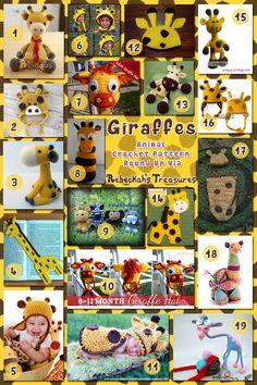Giraffes - Animal Crochet Pattern Round Up via @beckastreasures
