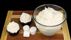 Marshmallow Buttercream Recipe from Cookies Cupcakes and Cardio Marshmallow Sweets, Marshmallow Fluff Recipes, Marshmallow Buttercream, Buttercream Recipe, Icing Recipe, Frosting Recipes, Cupcake Recipes, Dessert Recipes, Marshmallow Creme