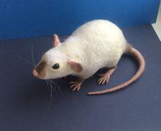 Beispiel-Arbeit Ratte Nadel gefilzt, ausgefallene Ratte weiche Skulptur, Wolle…