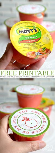 Gift Idea - Cute Apple Treats and Free Printable at the36thavenue.com