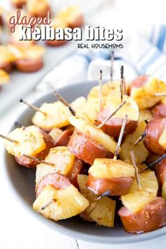 These Glazed Kielbasa Bites are the perfect make ahead, bite-sized appetizer. It has a sweet and salty flavor that people can't stop eating! food make ahead Glazed Kielbasa Bites Appetizers For A Crowd, Finger Food Appetizers, Food For A Crowd, Appetizer Recipes, Make Ahead Christmas Appetizers, Toothpick Appetizers, Easy Make Ahead Appetizers, Italian Appetizers, Holiday Party Appetizers