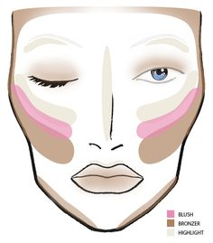 A makeup guide on how to apply highlighter bronzer and blush to a makeup guide on how to apply highlighter bronzer and blush to an oval shaped face beauty pinterest makeup guide highlighters and makeup ccuart Choice Image