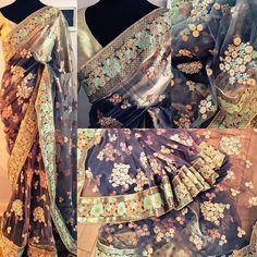 OPIUM Embellished shimmering net cocktail saree! What's not to like ? For purchases email me at  designerayushkejriwal@hotmail.com or what's app me on 00447840384707  We ship WORLDWIDE. #sarees#saris#indianclothes#womenwear #anarkalis #lengha #ethnicwear #fashion #ayushkejriwal#Bollywood #vogue #indiandesigners #handmade #britishasianfashion #instalove #desibride #bollywoodfashion #aashniandco #perniaspopupshop #style #indianbeauty #classy #instafashion #lakmefashionweek #indiancouture…