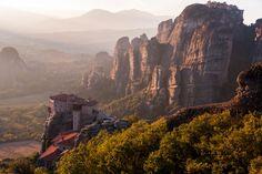 The medieval monasteries in Meteora, Greece !!