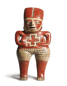 Chupícuaro Female Figure with Cross DesignLate Preclassic, ca. 300-100 B.C. | lot | Sotheby's