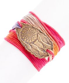 Look at this #zulilyfind! Mimosa Dream Catcher Silk Wrap Bracelet by HorseFeathers #zulilyfinds