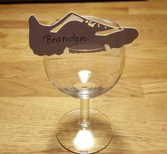 Bordkort mens shoes place card