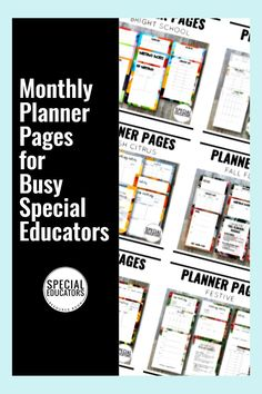 Planning Pages to keep you organized! Designed especially for special educators with those MOST important pages you use every month: IEP meeting notes, caseload roster, calendar, contact logs, and more. #specialeducation #planners #specialeducator