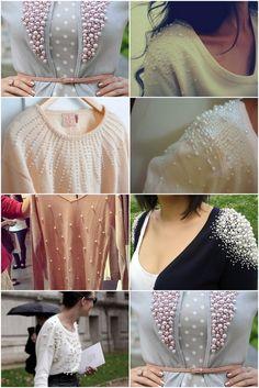 DIY Recicla tus sueters con perlas!
