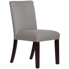 Skyline Furniture Uptown Dining Chair in Linen Grey