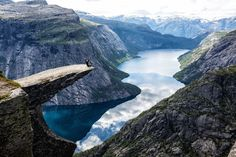 Trolltunga, Norway. One of the world's coolest spots to take a photo.