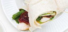 Wraps au poulet et aux tomates séchées Recettes | Ricardo