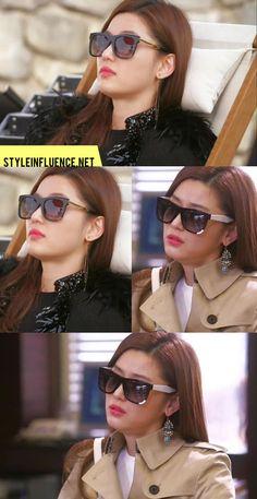 [Korean Drama Fashion] My Love From Another Star, Jun Ji Hyun – Sunglasses by Numero Eyewear, SATEEN TRENCH COAT by Burberry