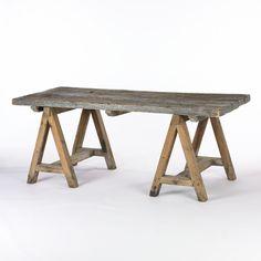 Sawhorse table legs. Genius.