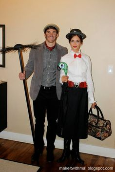 Diy mary poppins and bert costumes party time pinterest mary mary poppins and bert diy costumes solutioingenieria Choice Image