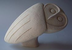 Owl by Stephanie Cunningham (and lots of other wonderful ceramic animals on this home page! Pottery Sculpture, Bird Sculpture, Stone Sculpture, Abstract Sculpture, Ceramic Animals, Ceramic Birds, Ceramic Clay, Ceramic Pottery, Owl Art