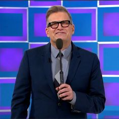 Price is right suit looks blue suits drew carey march 4 2015 Blue Suit Looks, Blue Suits, Wednesday Outfit, Suit Drawing, Drew Carey, Price Is Right, March 4